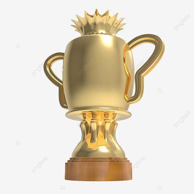 crown trophy 3d render