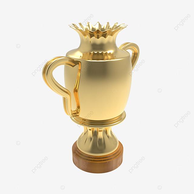 crown trophy 3d render side view