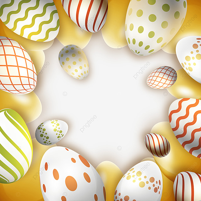 decorative golden easter texture egg with floral pattern