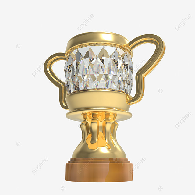 diamond trophy 3d render