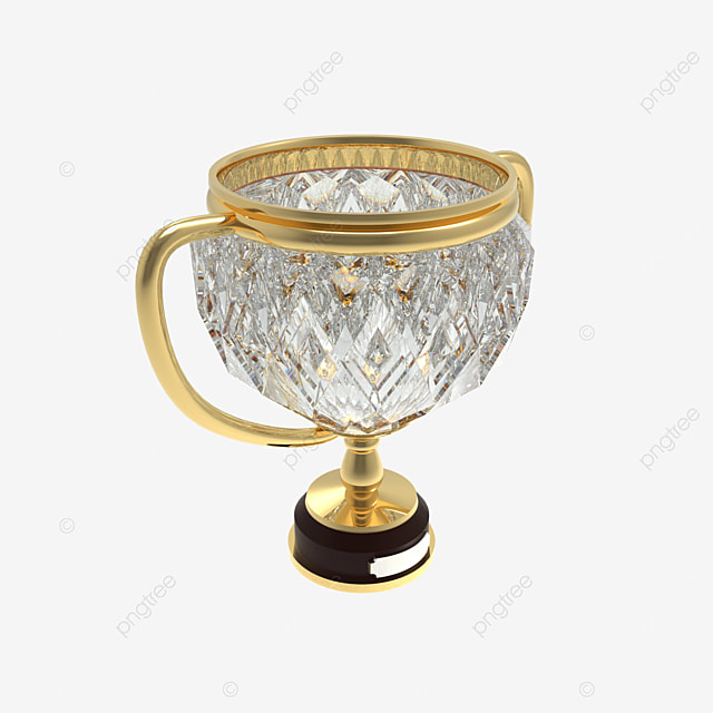 diamond trophy 3d render side view