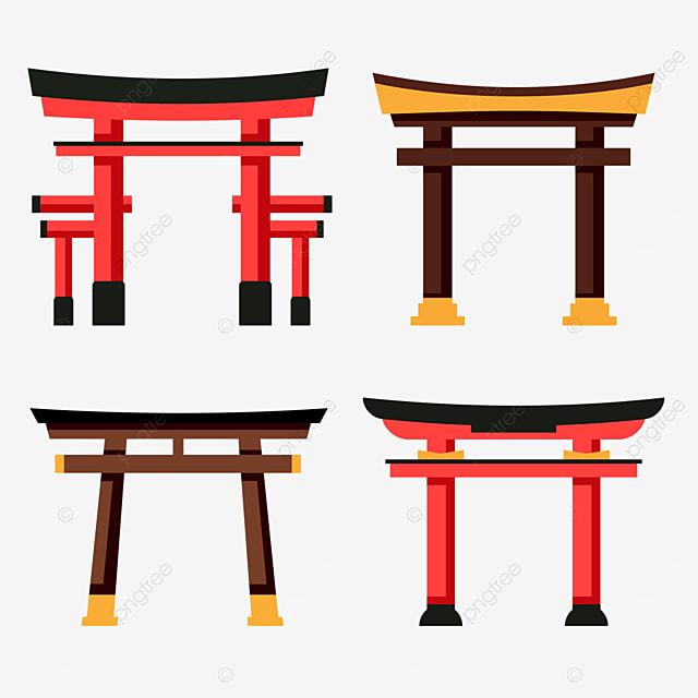 flat feng myojin japanese architecture torii