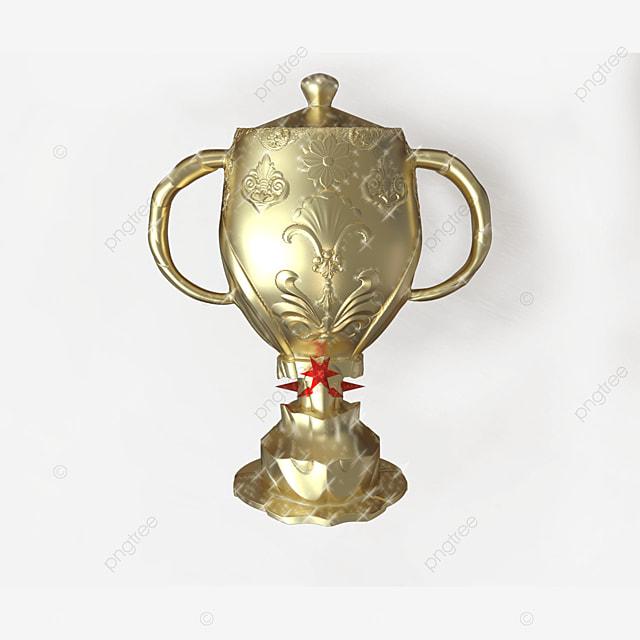 golden 3d trophy transparent