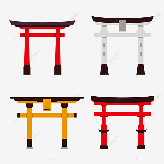 orange gray and red japanese architecture torii