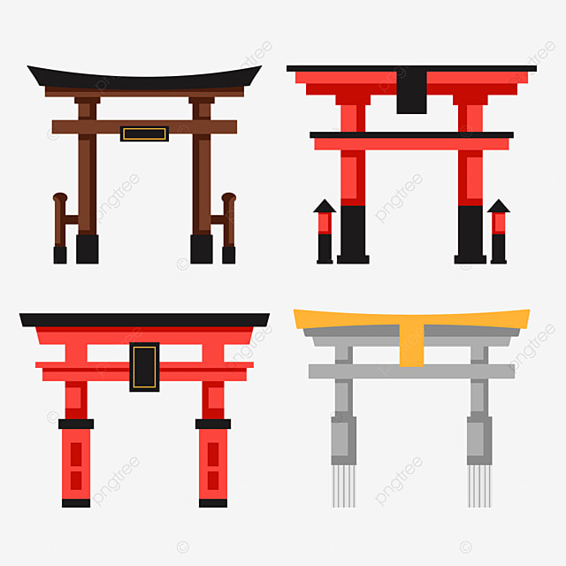 ornate japanese architecture torii