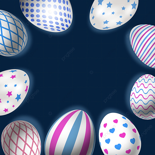 reticulated and star shaped decorative easter textured eggs