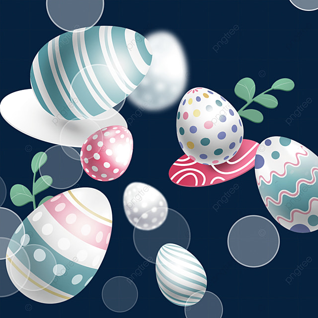 striped waves and dots easter textured egg