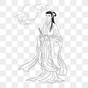 ความงามโบราณ diao chan, การวาดเส้น, โบราณ, สี่ความงาม PNG และ PSD
