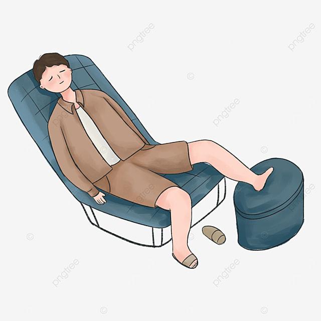 blue recliner lazy clip art