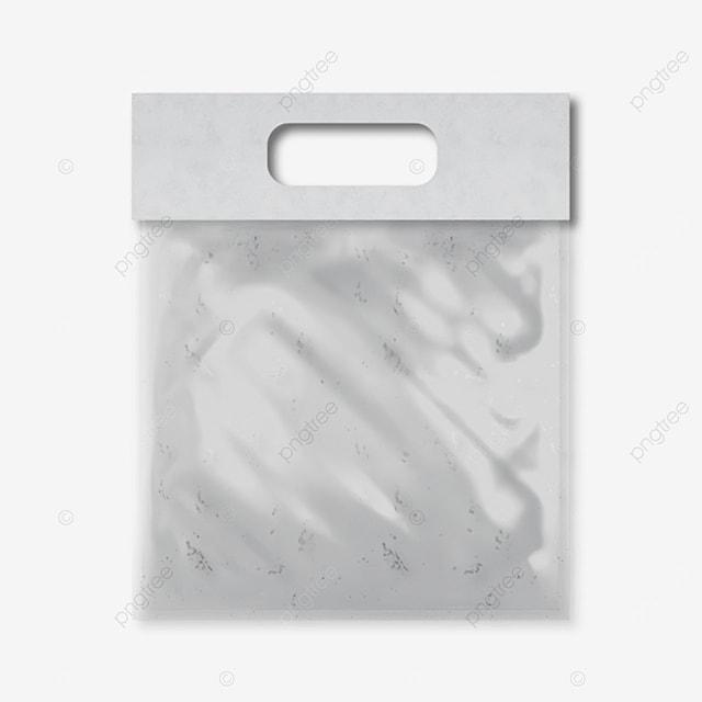 folded 3d transparent plastic handbag