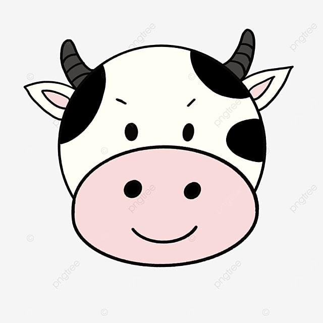 gray cow cow face clip art