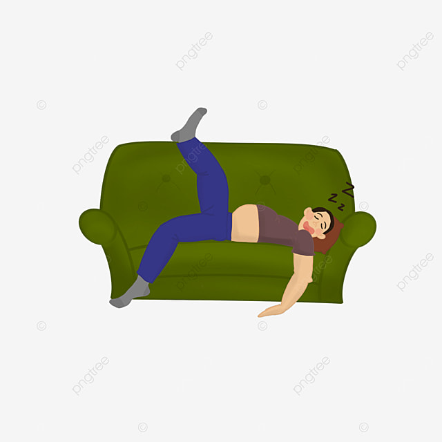 middle aged man collapsed sleeping lazy clipart