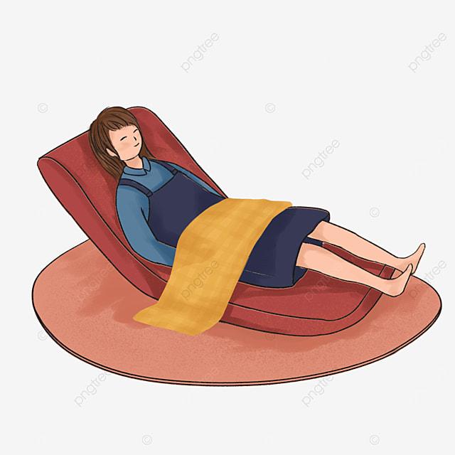 red recliner lazy clip art