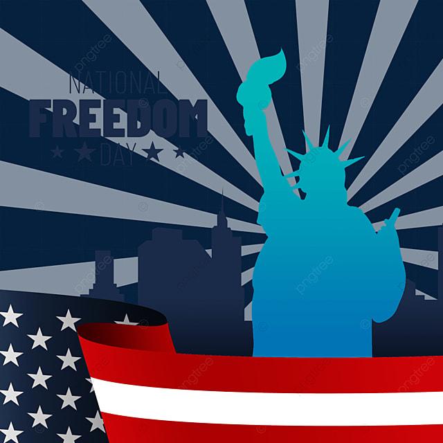statue of liberty silhouette usa national liberty day illustration