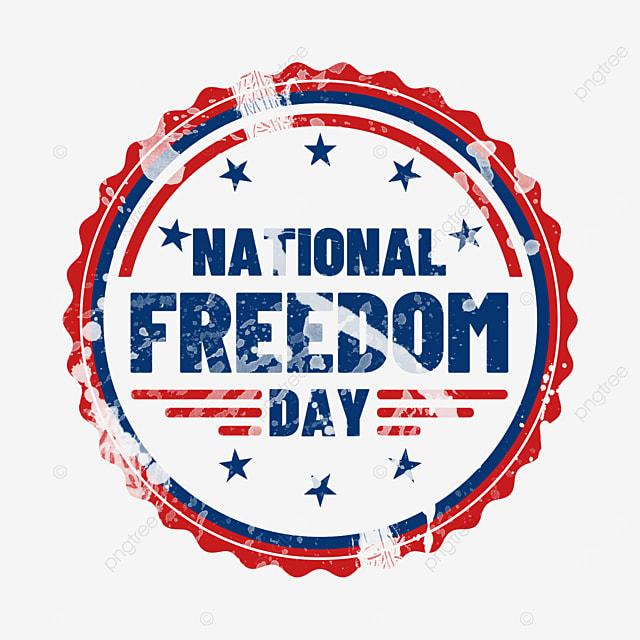 united states national freedom day retro round sign