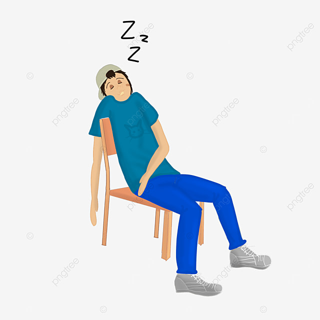 young people sleeping on chair lazy clipart