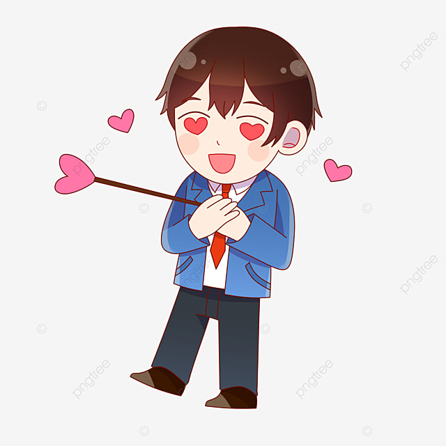 a boy with an arrow in his chest on valentines day in japan
