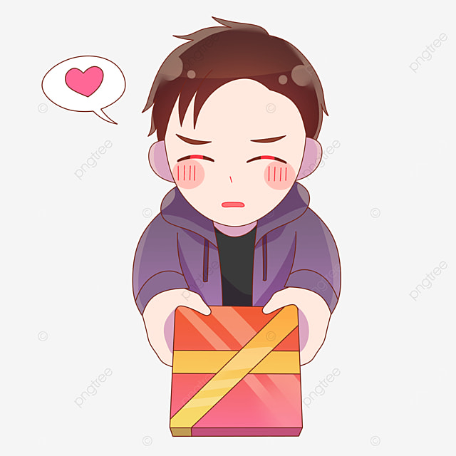 a shy boy who gives gifts on valentines day in japan