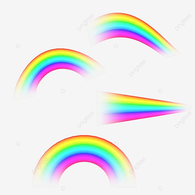 abstract gradient rainbow light effect