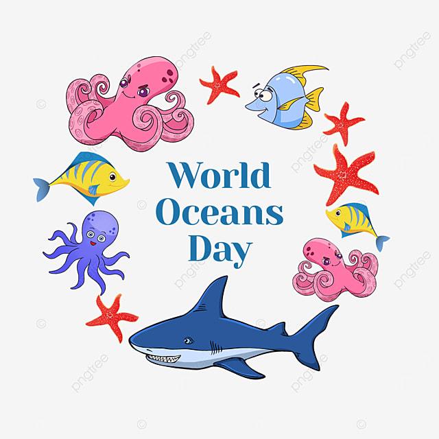 color world ocean day creature border