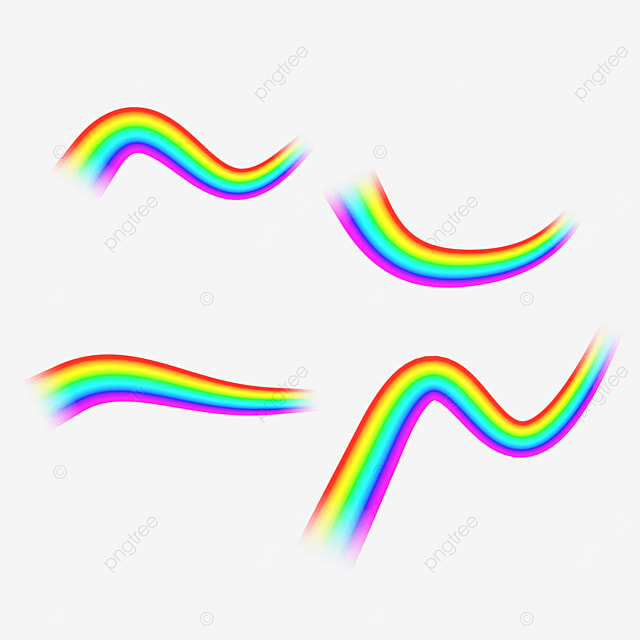 curved abstract rainbow light effect