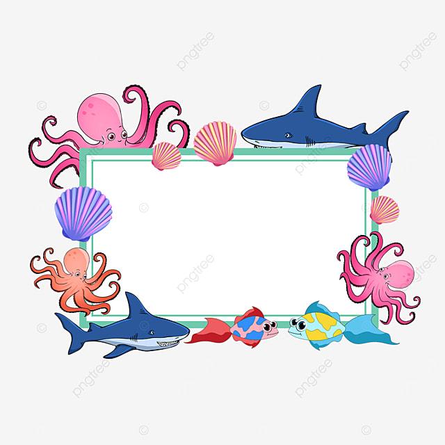 green world ocean day environmental protection frame