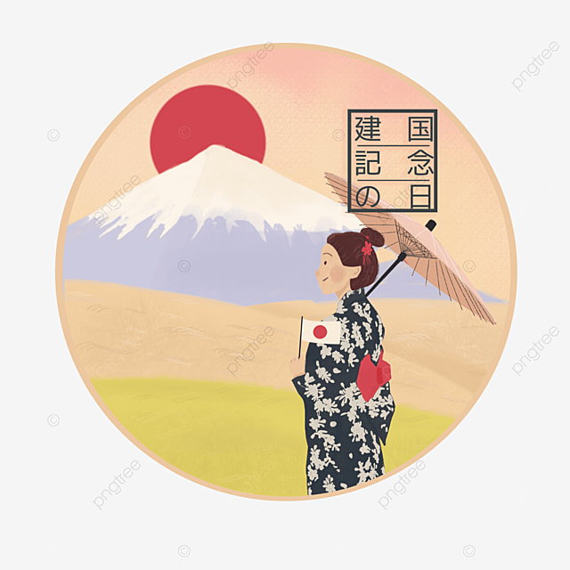 illustration for the anniversary of the founding of japan