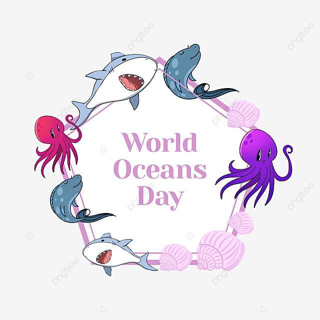 pink world ocean day protect environment border
