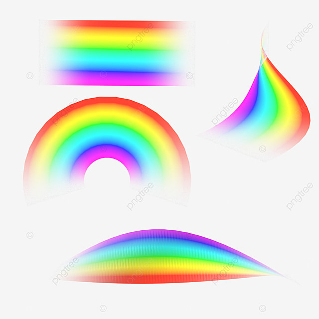 rough abstract gradient rainbow light effect