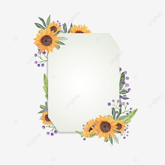 sunflower flowers gradient border