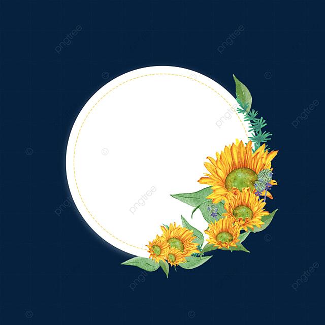 sunflower simple flower border