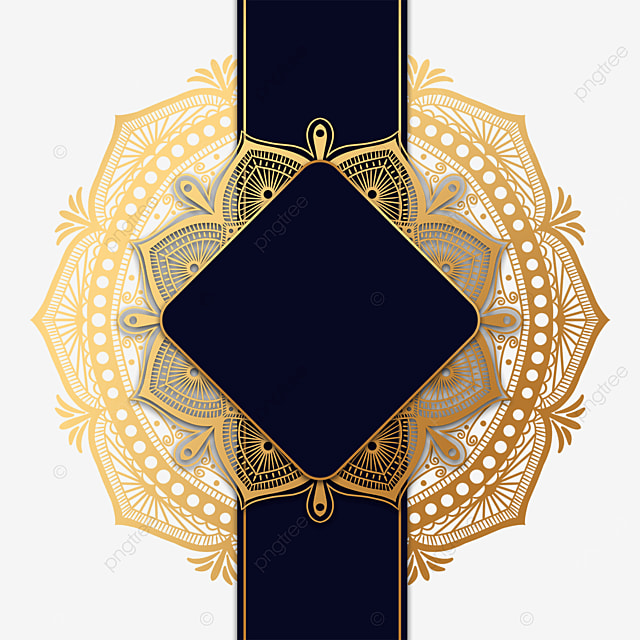 black luxury mandala decorative border