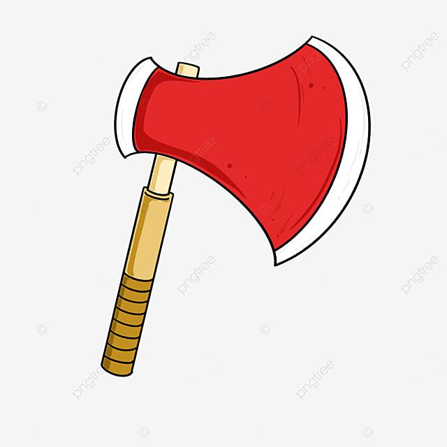 burgundy axe clip art