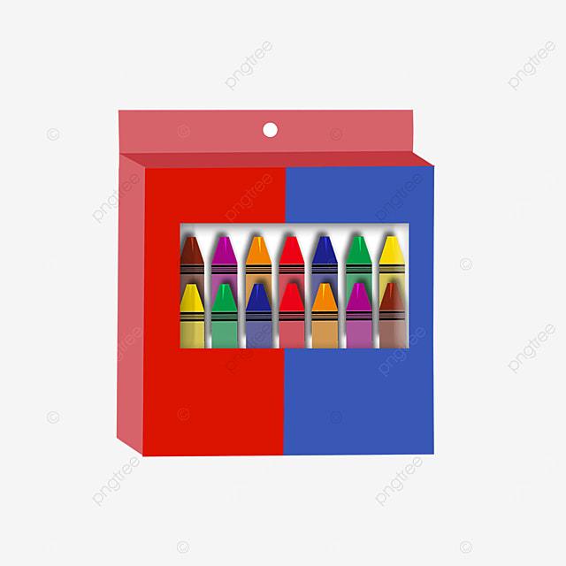 colorful crayon box clip art
