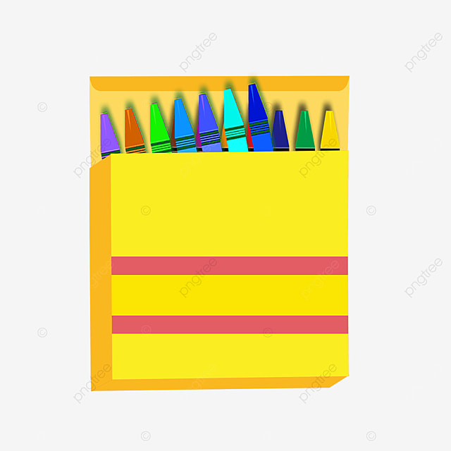 colorful crayons square box clipart