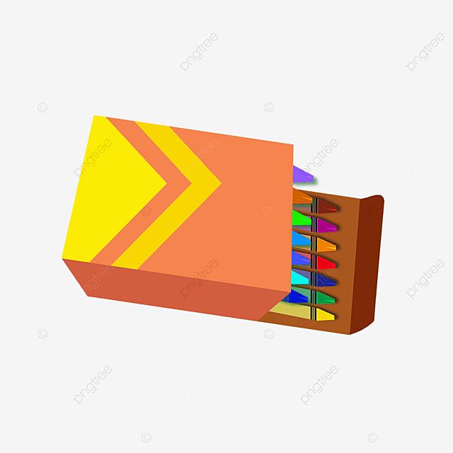 crayon orange box clip art