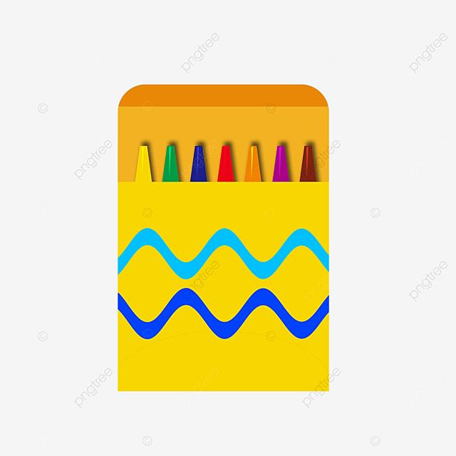 crayon yellow box clip art