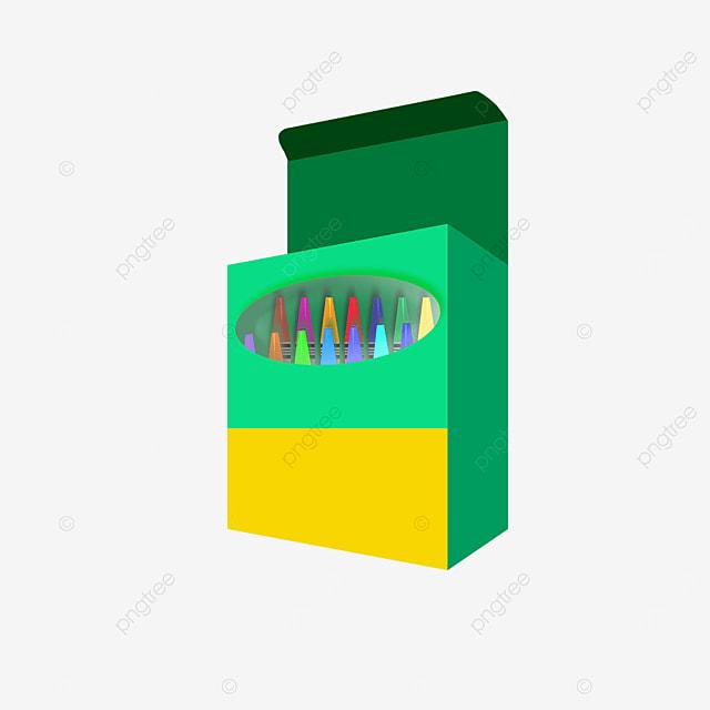 crayons green box clip art