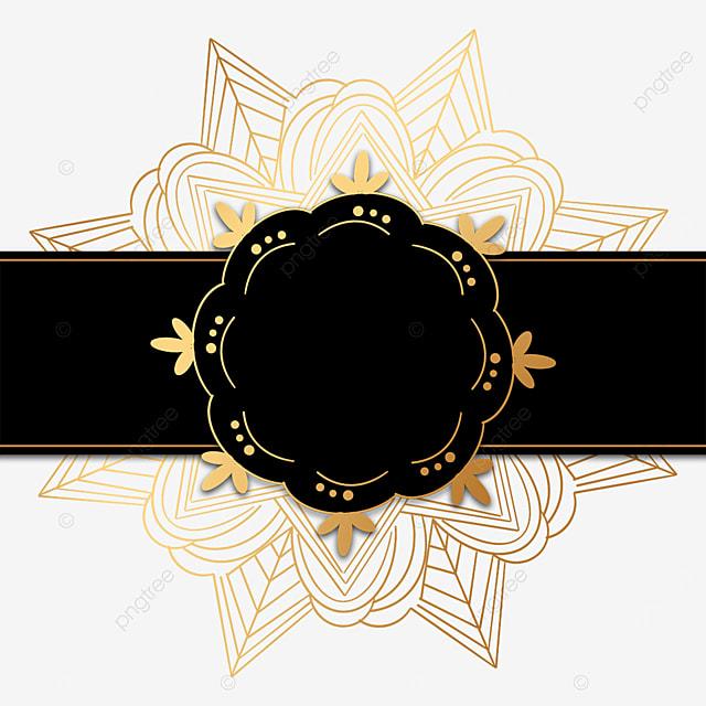 creative black luxury mandala decorative border