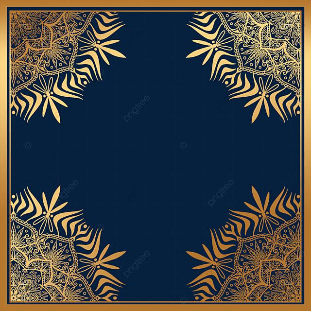 creative luxury golden mandala square border
