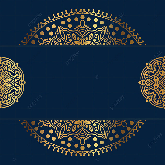 creative mandala decoration golden border