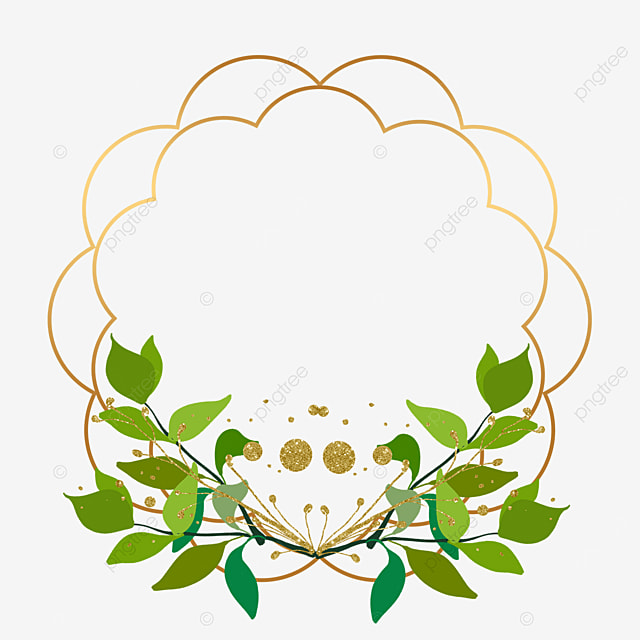 creative plant leaf decoration golden border