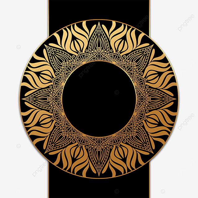 creative round luxury golden mandala decorative border