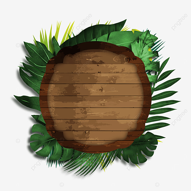 european brown wooden board plant border