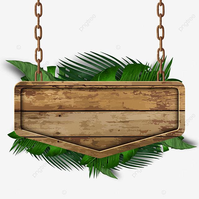 european chain wooden board plant border