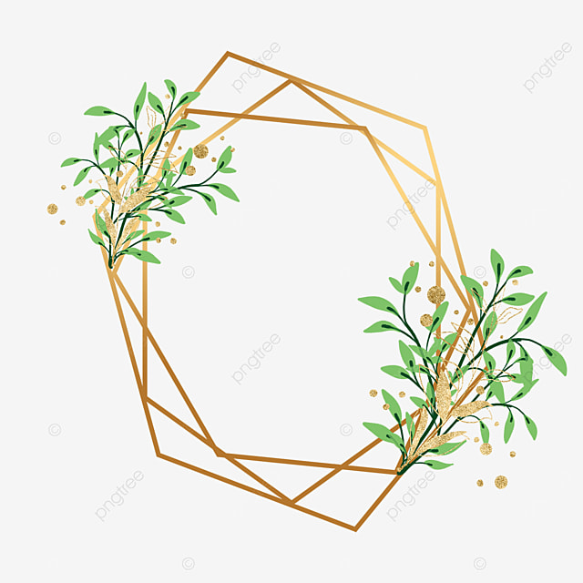 gold leaf decorative golden geometric border
