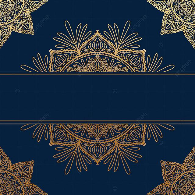 golden creative line mandala decorative border