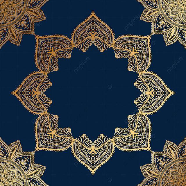 golden creative mandala decorative border