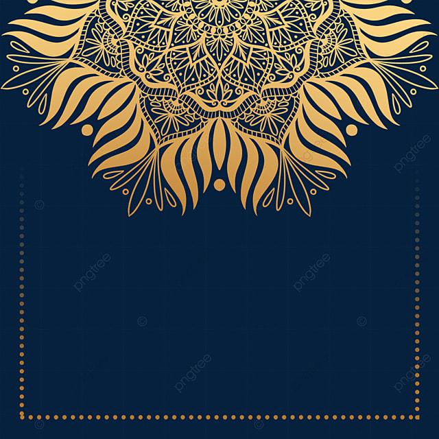 golden luxury decorative mandala border