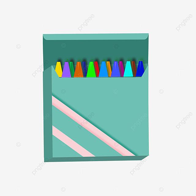 light blue crayon box clipart